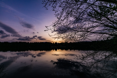 Sonnenuntergang in der Drauschleife